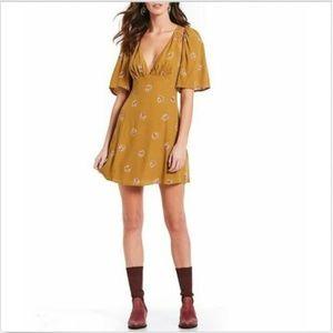 Free People Clove Mockingbird Mini Dress. New!